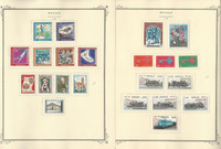 Monaco Stamp Collection on 24 Scott Specialty Pages, 1968-1974, JFZ