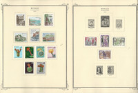 Monaco Stamp Collection on 16 Scott Specialty Pages, 1974-1979, JFZ
