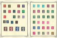 Great Britain Stamp Collection on 22 Scott Quad Pages, Machin Heads, JFZ