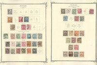 Hungary Stamp Collection on 13 Scott Specialty Pages, 1871-1925, JFZ