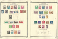 Hungary Stamp Collection on 20 Scott Specialty Pages, 1926-1950, JFZ