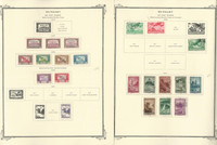 Hungary Stamp Collection on 45 Scott Specialty Pages, 1930-88 Airpost, JFZ