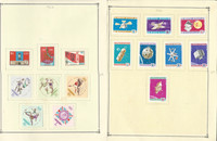 Mongolia Stamp Collection on 25 Scott Quad Pages, 1966-1971, JFZ