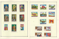 Mongolia Stamp Collection on 26 Scott Quad Pages, 1971-1974, JFZ