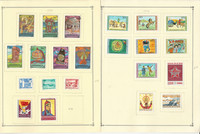 Mongolia Stamp Collection on 30 Scott Quad Pages, 1975-1979, JFZ
