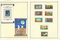 Mongolia Stamp Collection on 28 Scott Quad Pages, 1966-1994 Airpost, JFZ