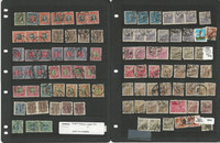 China Stamp Collection, Old Lot Used, Pairs, Cancels, 4 Pages, JFZ