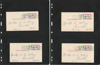 Canal Zone Stamp Collection, #UXC2 Postally Used Cards, 1965, Lot of 10, JFZ