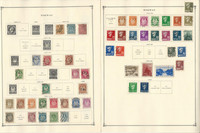 Norway Stamp Collection on 6 Scott International Pages, 1856-1940, JFZ