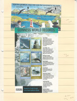 South Georgia Stamp Collection, 1974-2006, 11 Mint NH Souviner Sheets, JFZ