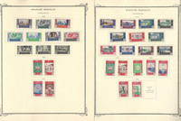 Spainish Morocco Stamp Collection on 36 Scott Specialty Pages, JFZ