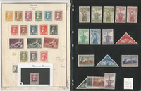 Spain Stamp Collection on 3 Pages, 386-402, 418-432, E8, C31//C47 Mint, JFZ