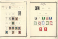 Sweden Stamp Collection on 8 Scott Specialty Pages, 1877-1966 BOB, JFZ