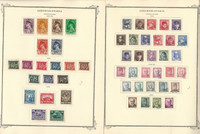 Czechoslovakia Stamp Collection on 28 Scott Specialty Pages, 1945-1957, JFZ