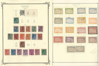 Venezuela Stamp Collection on 4 Scott Specialty Pages, 1892-1905, JFZ