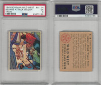 1949 Bowman, Wild West, #A-14 Indians Attack Wagon Train, PSA 5 EX