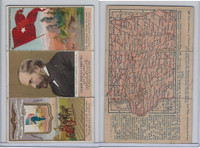 N133 Duke, State Governors, Coats of Arms Tri-Fold, 1888, Iowa, Larrabee