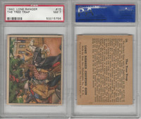 R83 Gum Inc, Lone Ranger, 1940, #15 The Tree Trap, PSA 7 NM