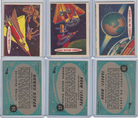 1957 Topps, Space Cards, Lot of Three, #26, 27, 28 Sunset Earth, Flying