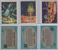 1957 Topps, Space Cards, Lot of Three, #30, 31, 34 Lunar, Moon