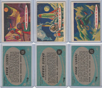 1957 Topps, Space Cards, Lot of Three, #35, 36, 37 Lunar, Moon