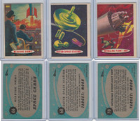 1957 Topps, Space Cards, Lot of Three, #66, 68, 70 Outer Space, Ship