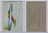 W673 Wildman, Trading Cards, Navy Ships, Airplanes, 1950, #110 F94 Jet