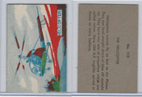 W673 Wildman, Trading Cards, Navy Ships, Airplanes, 1950, #112 Helicopter