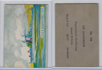 W673 Wildman, Trading Cards, Navy Ships, Airplanes, 1950, #125 Manchester
