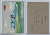 W673 Wildman, Trading Cards, Navy Ships, Airplanes, 1950, #129 Indianapolis