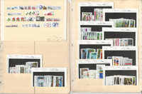 Sweden Stamp Collection on 6 Stock Pages, Wholesale Lot Modern Used, JFZ
