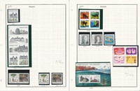 Sweden Stamp Collection on 7 Pages, 2010 Mint NH & Used, JFZ