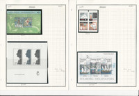 Sweden Stamp Collection on 8 Pages, 2006 Mint NH & Used, JFZ