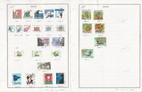 Sweden Stamp Collection on 13 Pages, 2003-2004 Used, JFZ