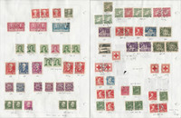 Sweden Stamp Collection on 10 Pages, 1938-1945 Used, JFZ