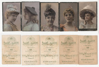 N131 Duke, Stars of The Stage, 3rd Series, 1890, Actresses Lot of 5 (Trim)