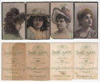 N131 Duke, Stars of The Stage, 3rd Series, 1890, Actresses Lot of 4 (Trim)