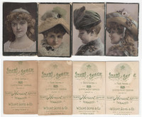 N131 Duke, Stars of The Stage, 3rd Series, 1890, Actresses Lot of 4 B (Trim)