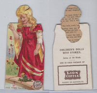 K33 Lion Coffee, Die Cut, Childrens Dolls With Stories, 1890, The Frog Prince
