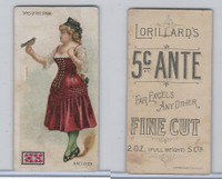 Copy of N259 Lorillard, Types of the Stage, 1893, Gretchen, 5c Ante