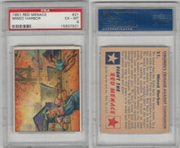 1951 Bowman, Red Menace, #21 Mined Harbor, PSA 6 EXMT
