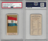 N10 Allen & Ginter, Flags of all Nations, 1890, Grand Duchy Luxemburg, PSA 5