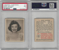 1948 Bowman, Movie Stars, #7 Mary Hatcher, PSA 7 NM