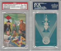 1940 Castell Card, Wizard Of Oz, #11 There's No Place Like, PSA 8 NMMT