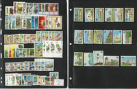 Fiji Stamp Collection on 3 Stock Pages, Mint NH Sets, British Colony, JFZ