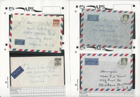 Germany Covers Stamp Collection on 70 Different on APS Sheets, JFZ