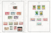 Guinea Stamp Collection on 20 Steiner Pages, 1959-64, Butterfly, Fish, JFZ