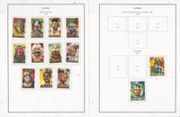 Guinea Stamp Collection on 20 Steiner Pages, 1965-69, Space, Animals, JFZ