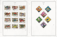 Guinea Stamp Collection on 24 Steiner Pages, 1970-79, Fish, Airplanes, JFZ