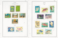 Guinea Stamp Collection on 24 Steiner Pages, 1980-98, Dinosaurs, Dogs, JFZ
